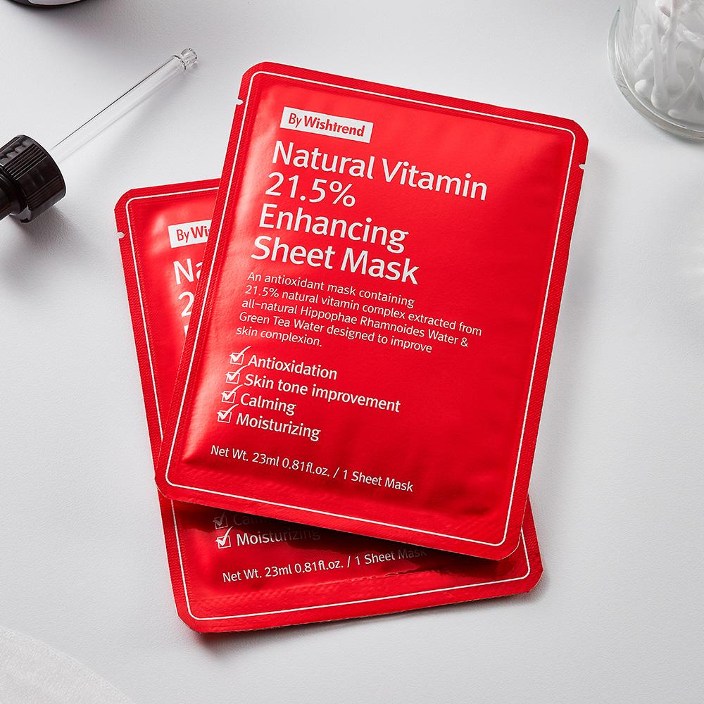 Natural Vitamin 21.5 Enhancing Sheet Mask (3)