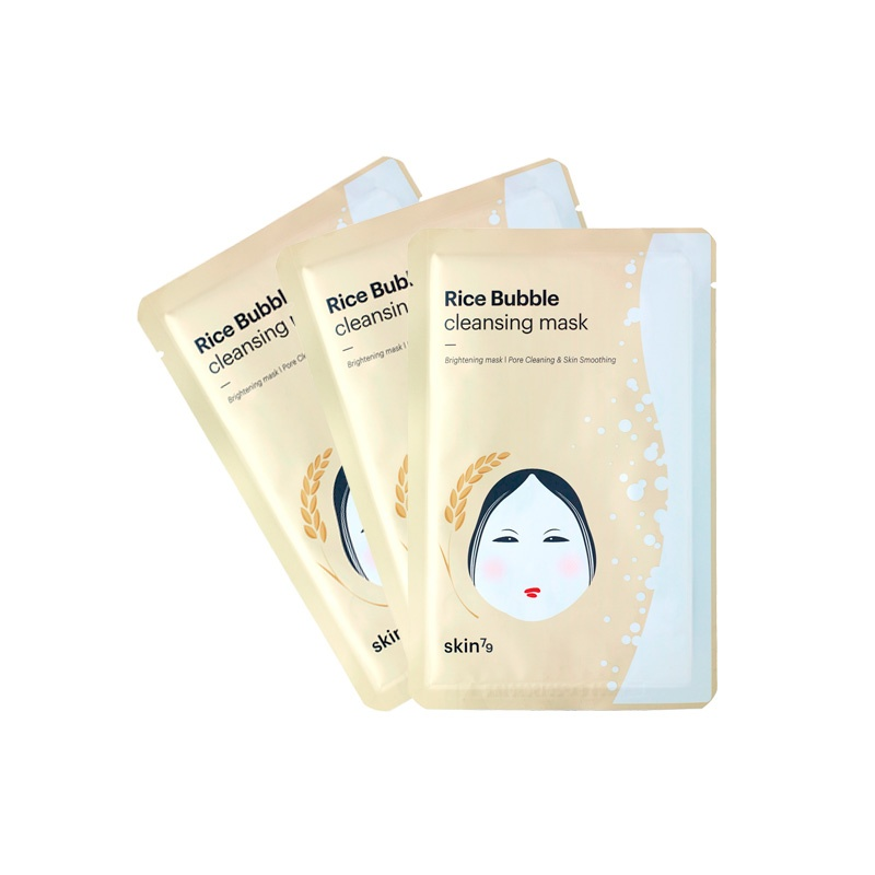 RICE BUBBLE CLEANSING MASK PACK