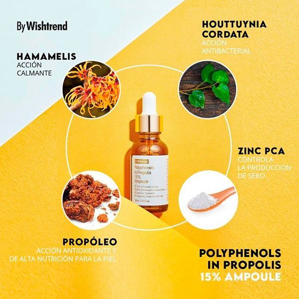 Componentes de Polyphenol in Propolis 15% Ampoule